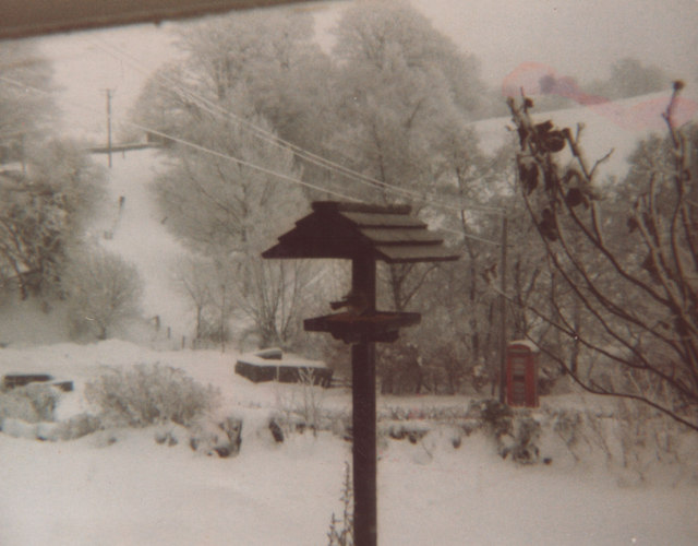 Llaneglwys in the snow