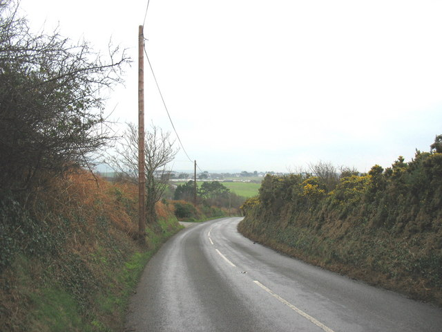 A bend on the B4417 Pistyll to Nefyn road