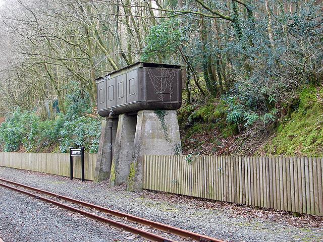 Old locomotive watering tank at Aberffrwd