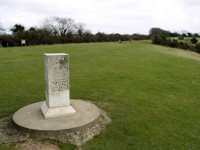 Memorial at Pewley Down