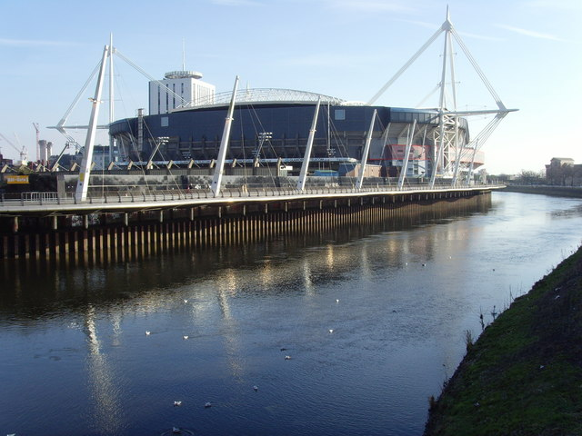 Cardiff Millennium Stadium from Canton Bridge