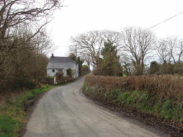 Road south of Week Green