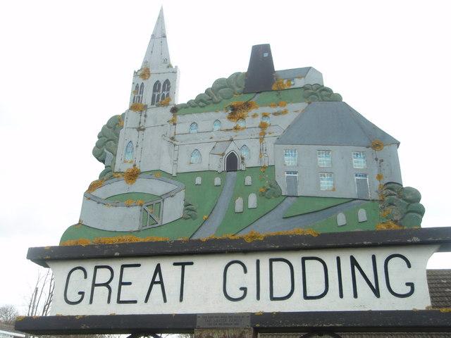 Village sign  Great Gidding