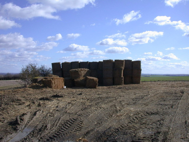 Bales and mud on Chapel Hill