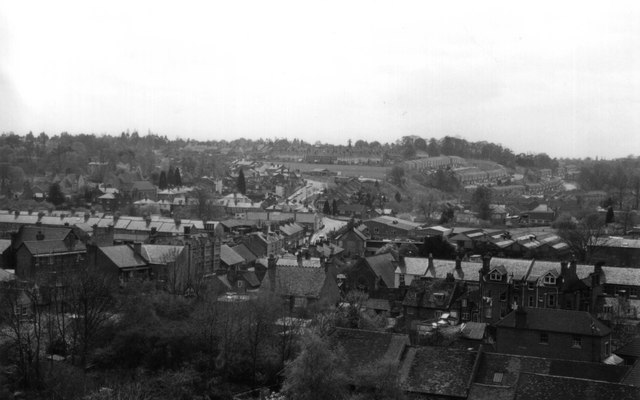 View of Henley from St Marys Church Tower