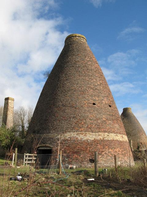 Bottle kilns and chimney