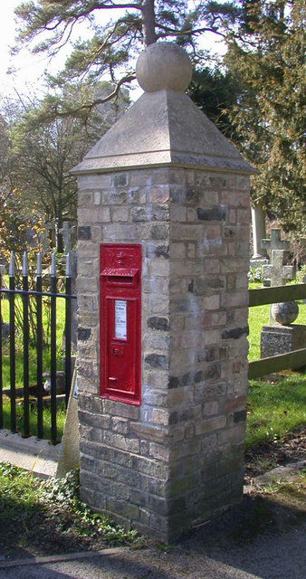VR letterbox in gateway to Harston Church