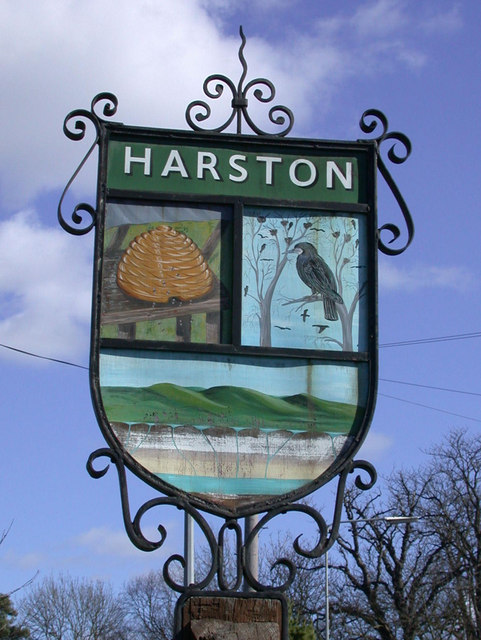Harston Village Sign - detail