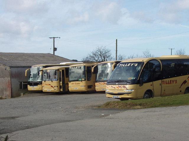 Bus depot by Wainhouse Corner