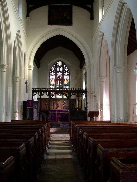 All Saints' Church, Harston - interior