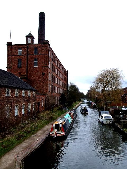 Birmingham & Fazeley Canal passing Tolson's Mill