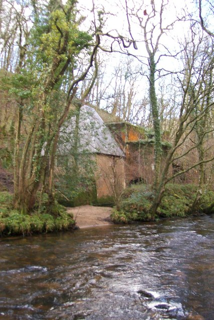 Hydro Electricity building on River Teign below Castle Drogo