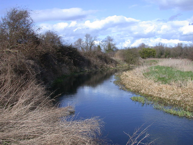 River Cam or Rhee west of Harston