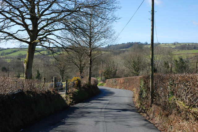 Road approaching the Aeron valley