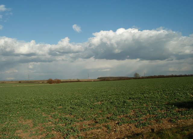 View  from Hemington Lodge Road over open farmland