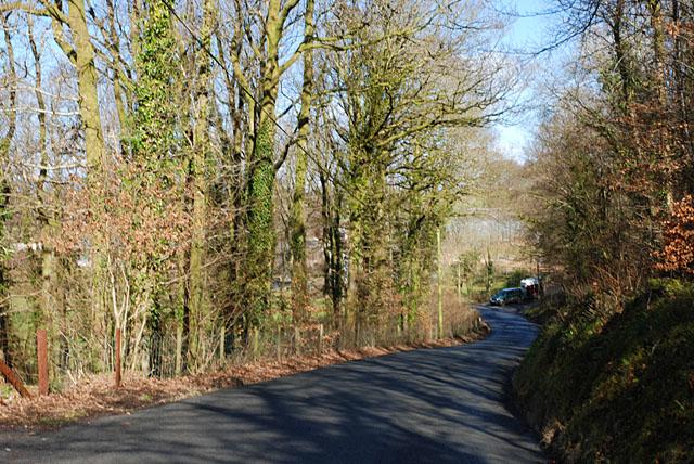Road near Bwlch-y-ddwyallt