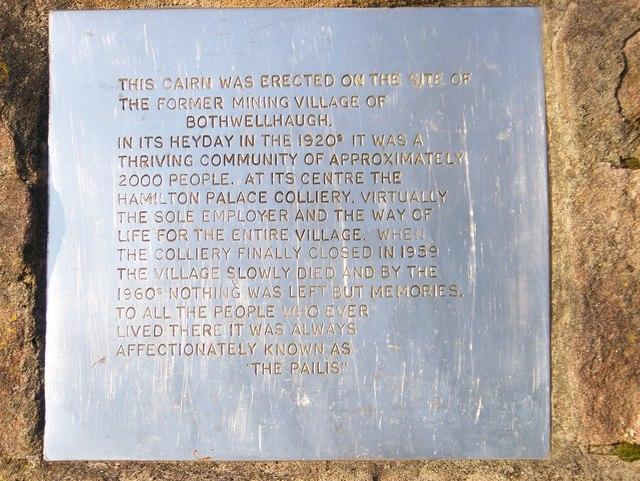 Plaque in the Memorial Garden
