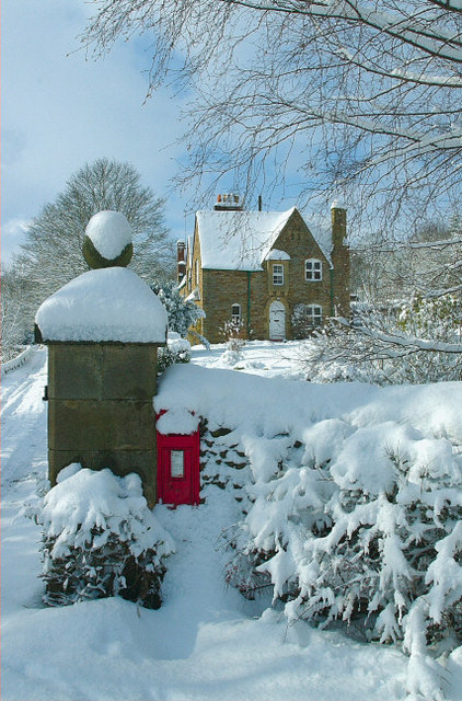 View of my house and post box. Winter 2005