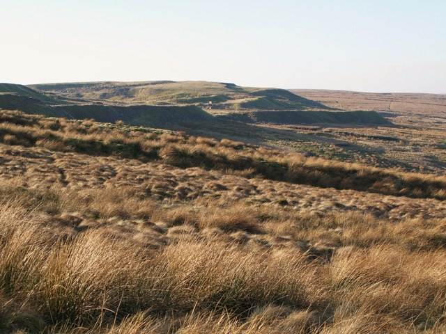 Moorland below the disused quarry at Harthope Head (3)
