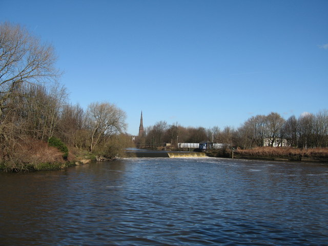 River Mersey at Latchford