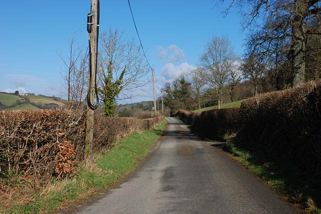 Minor road between Capel Betws Lleucu and Llangeitho