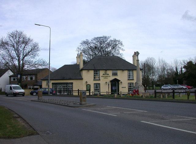 Pemberton Arms and Harston War Memorial
