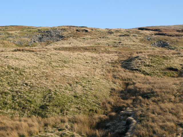 The lower slopes of Chapel Fell above Long Sike