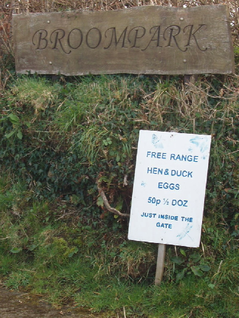 Broompark sign shows eggs for sale