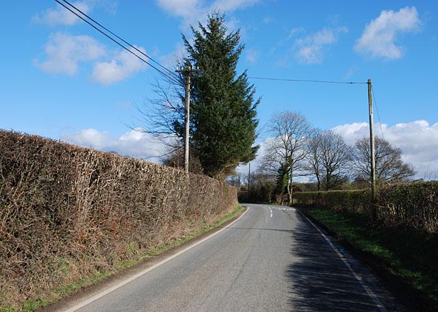 The B4342 near Derlwyn