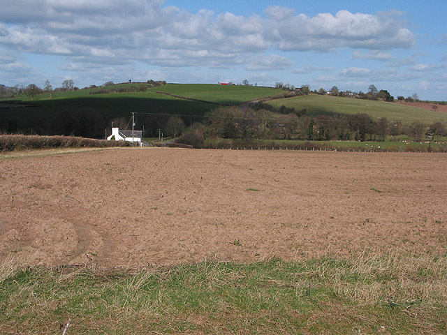 Countryside north of the B4521