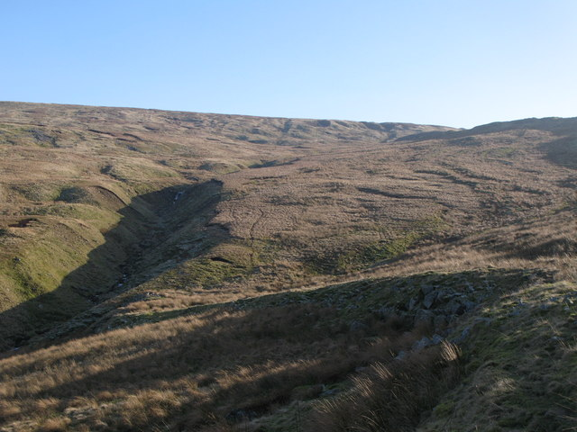 The cleugh of Long Sike and the western slopes of Chapel Fell (2)