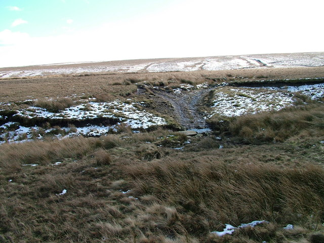 Ford and track across Mawmon Sike