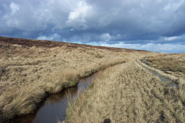 Catchment Drain below Slippery Moss
