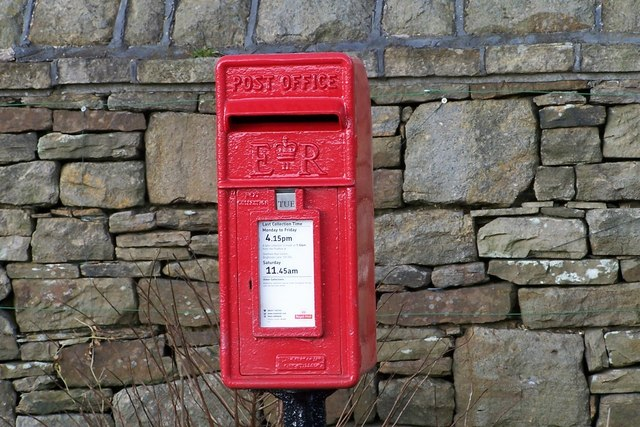 Post Box outside Convent on Kirk Edge Road