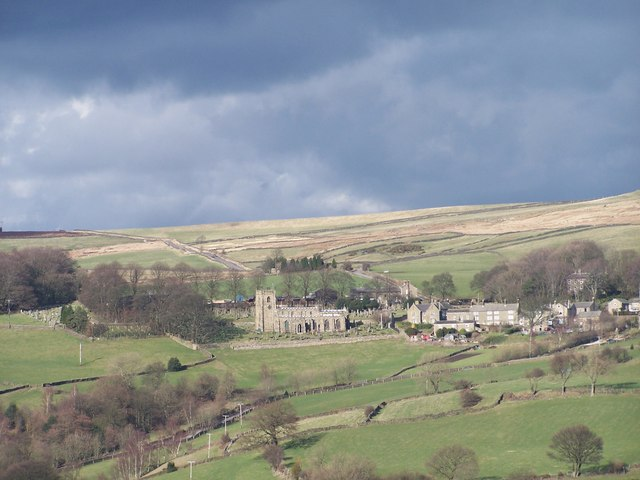 High Bradfield Church and Village taken from Mill Lee Road