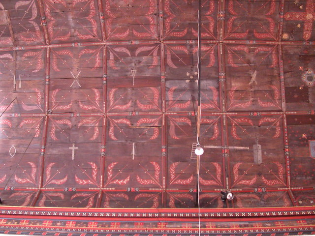 Chancel ceiling, All Saints' church, Haslingfield