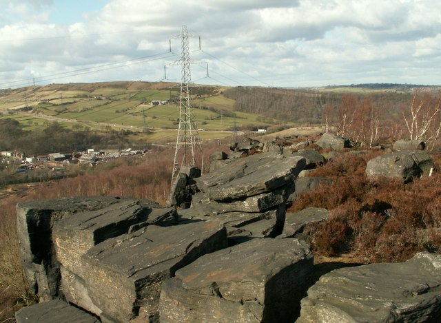 Wharncliffe Crags looking to White Carr Head