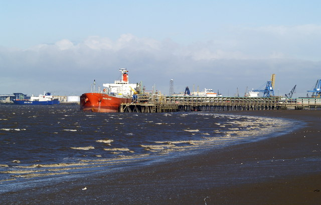 A Ship at Saltend Jetty