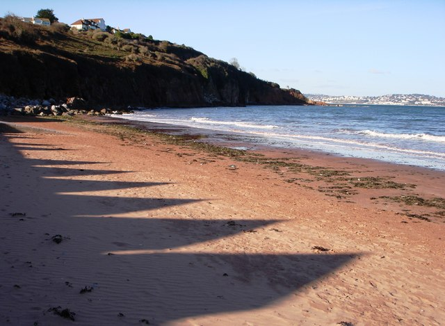 Shadows on the sand, Broadsands beach