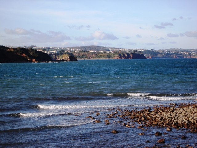 Broadsands beach, View to Goodrington and beyond