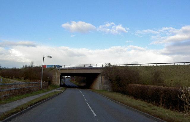 A1 motorway bridge near Styrrup Hall golf Club