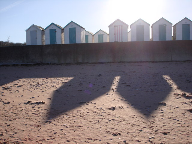 Beach huts on parade, Broadsands beach, Torbay