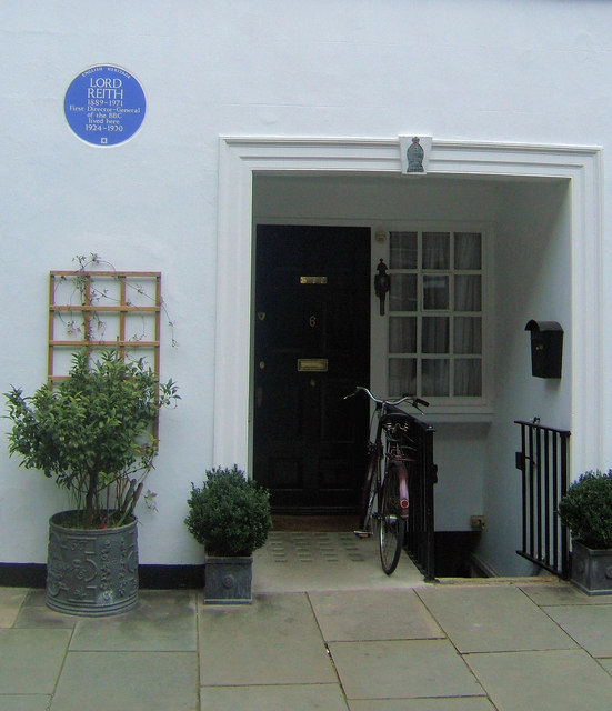 6, Cowley Street, London SW1 with Blue Plaque