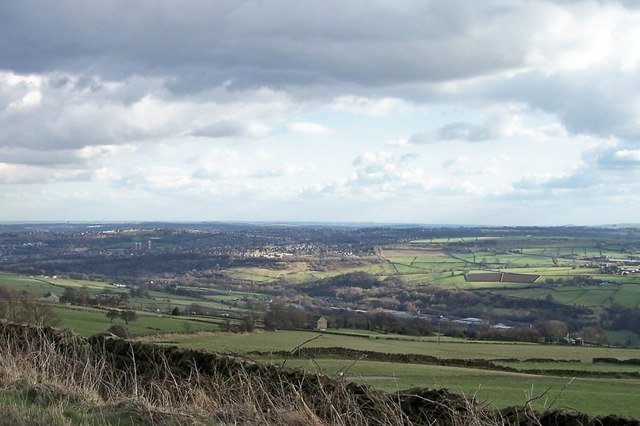 View of the Loxley Valley with Stannington in the background and Sheffield in the rear.