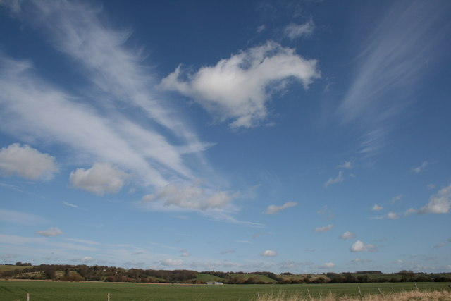 Skies above Stocks Road, Wittersham