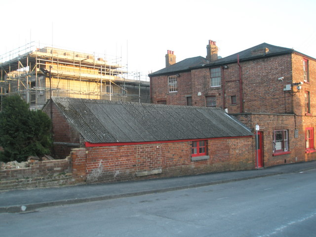 Outbuildings behind The New Inn
