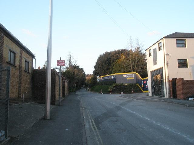 Looking up Lower Drayton Lane
