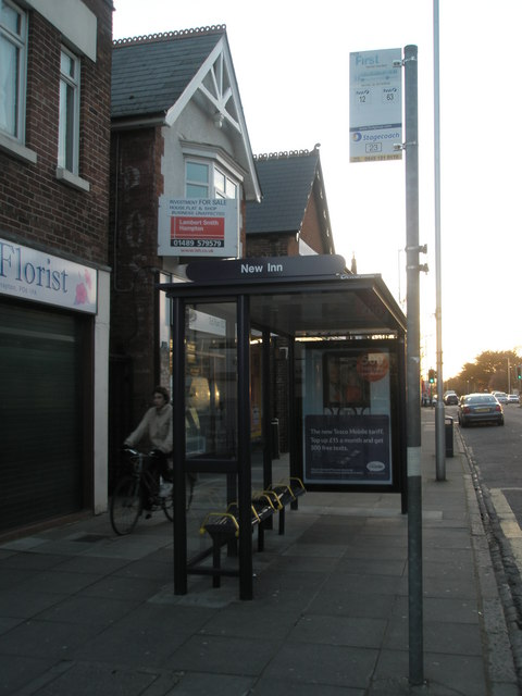 Bus stop by the florists at Drayton