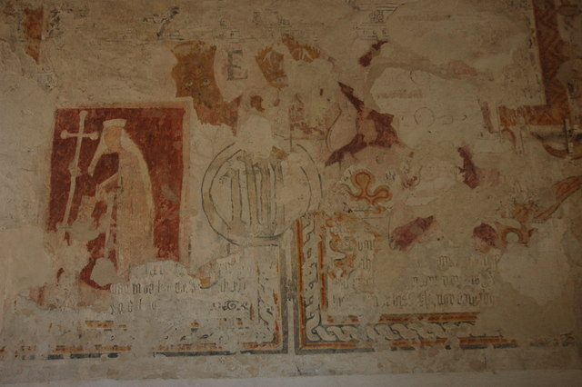 Wall Paintings in Oxenton Church