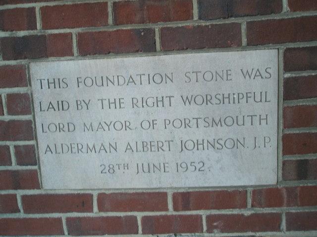 Foundation stone inlaid into Drayton Methodists